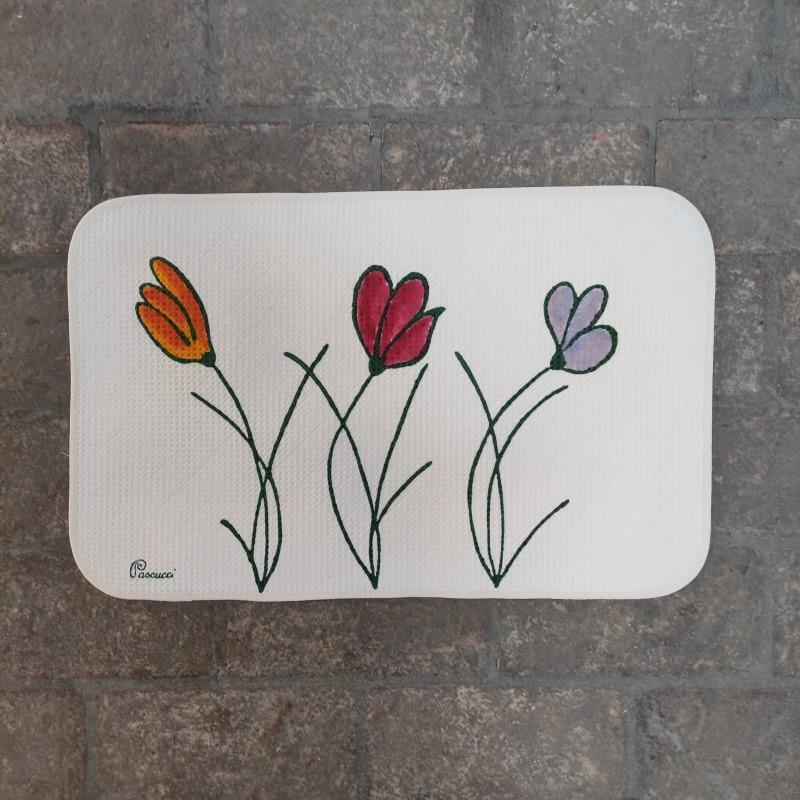 Tappeto Bagno Tulipani