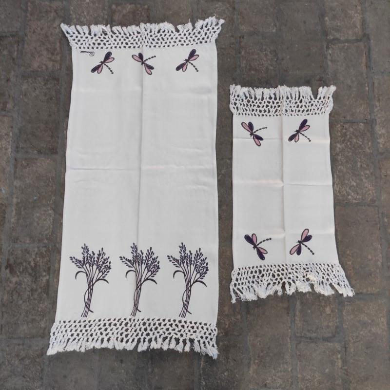 Asciugamano + Ospite Frange Lavanda