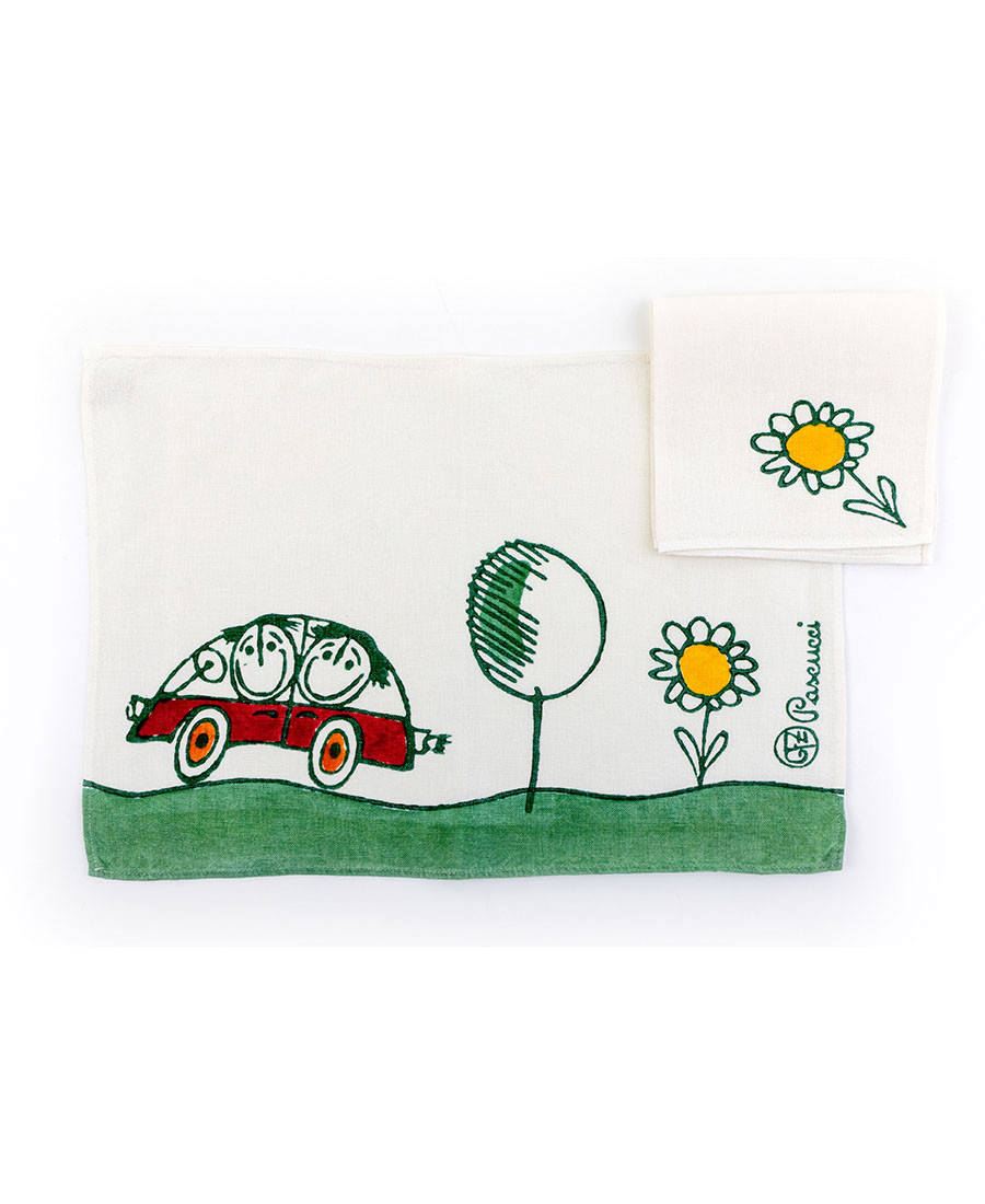 GFZ Placemat with napkin