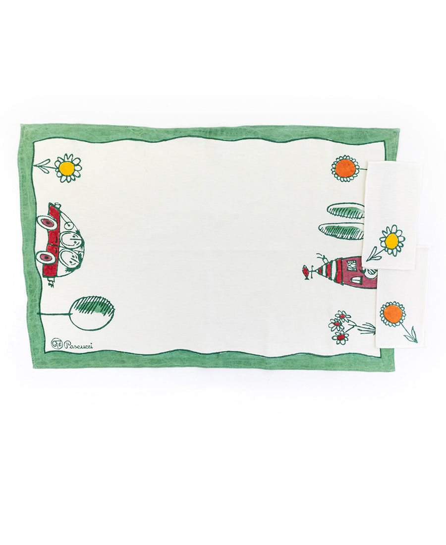 GFZ Double placemat with two napkins