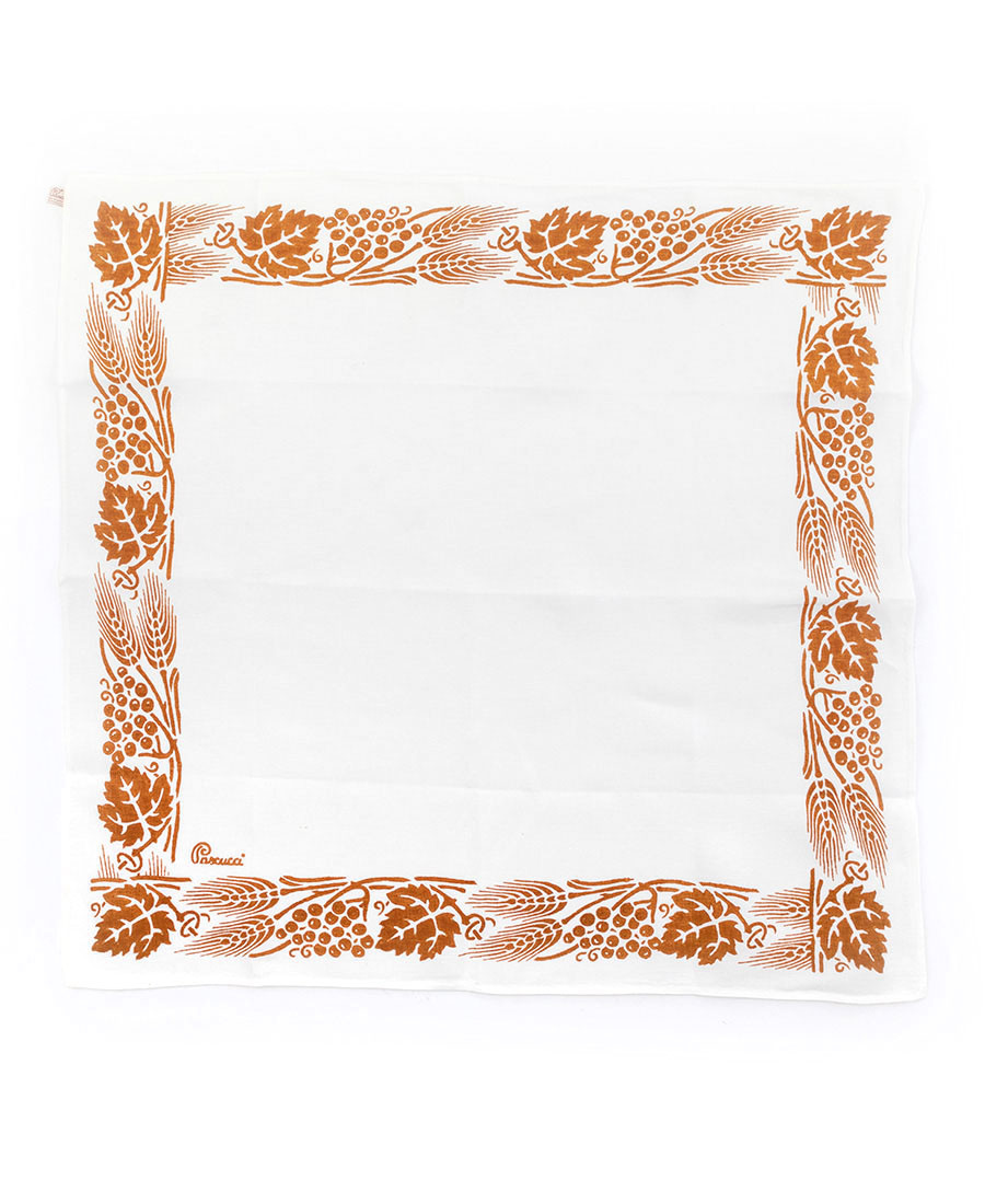 429 Rust Square Tablecloth