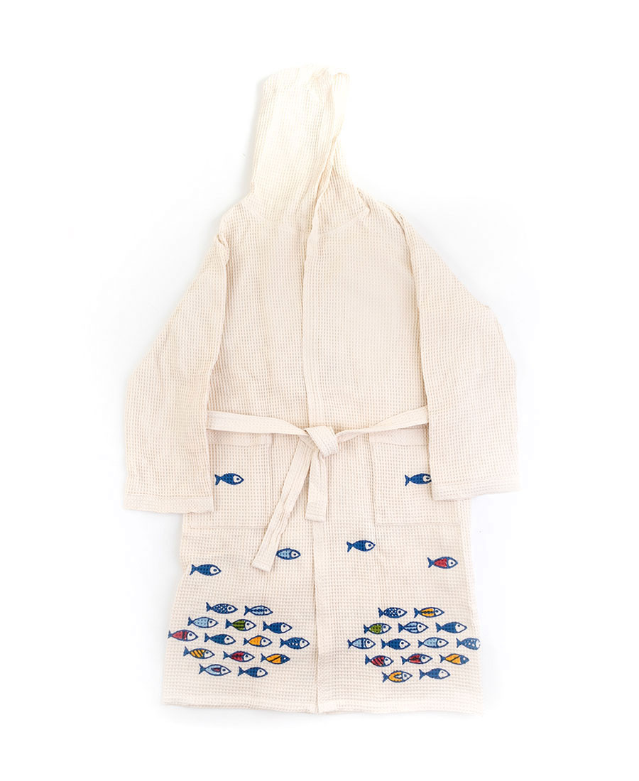 Little Fish Bathrobe