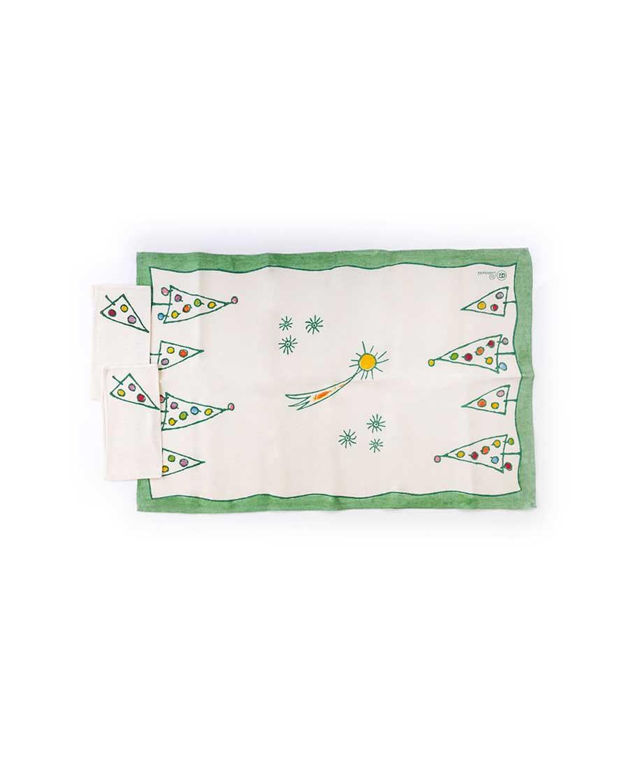 Tovaglietta natalizia con due tovaglioli Alberini GFZ